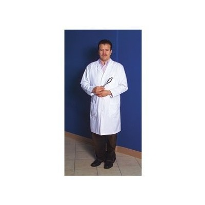 United Scientific LCLM01 Polyester/Cotton Women's Knee Length Lab Coat, Medium, Size 40 by United...