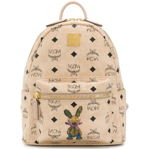 MCM all-over logo backpack - ニュートラル