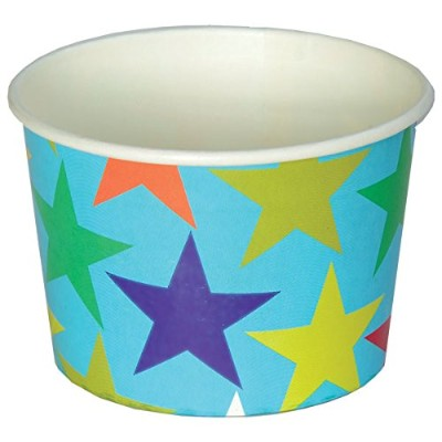 カラフルなstars-blue Treat Cups, Pack of 8