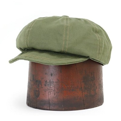 FREEWHEELERS フリーホイーラーズ JAM BUSTER 8 PANELS CAP 1910 - 1920s STYLE CASQUETTE COTTON CHINO DRILL OLIVE
