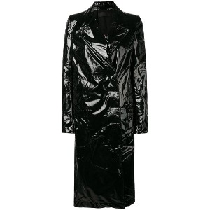 Haider Ackermann long PVC coat - ブラック