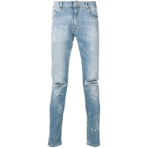 Represent destroyed skinny jeans - ブルー