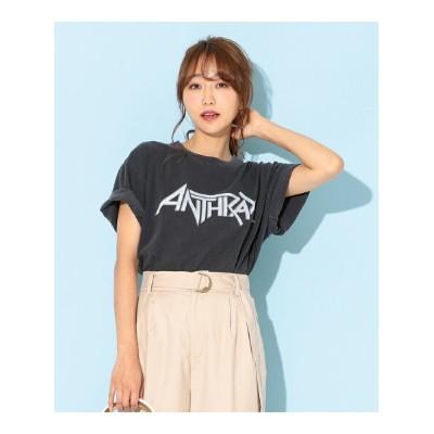 TWO FACES ANTHRAXプリント Tシャツ トゥーフェイシーズ カットソー【送料無料】