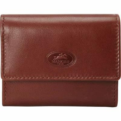メンシーニレザーグッズ Mancini Leather Goods カードケース・名刺入れ Manchester Collection: RFID Expandable Credit Card Wallet Cognac