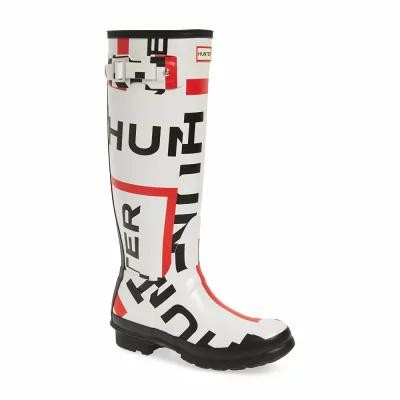 ハンター HUNTER レインシューズ・長靴 Original Exploded Logo Knee High Rain Boot Exploded Logo