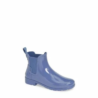 ハンター HUNTER レインシューズ・長靴 Original Refined Chelsea Rain Boot Adder Blue