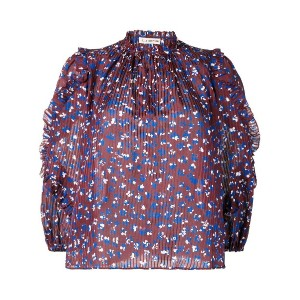 Ulla Johnson floral print blouse - レッド