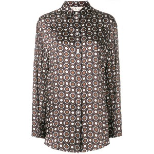 Mulberry circle patterned shirt - ブラウン