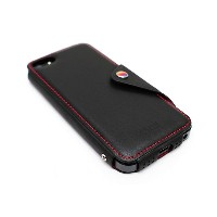 Lim`s MODERN CLASSIC LEATHER EDITION iPhone SE/5s/5用○LEIP5MBBK Black パソコン・モバイル雑貨