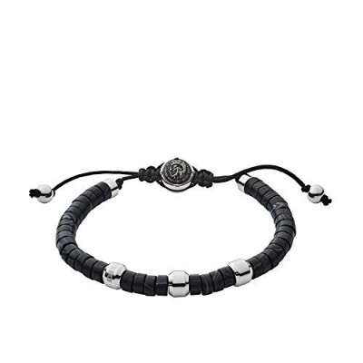 男性用ブレスレット(Diesel Men Stainless Steel Strand Bracelet - DX1121040) 並行輸入品