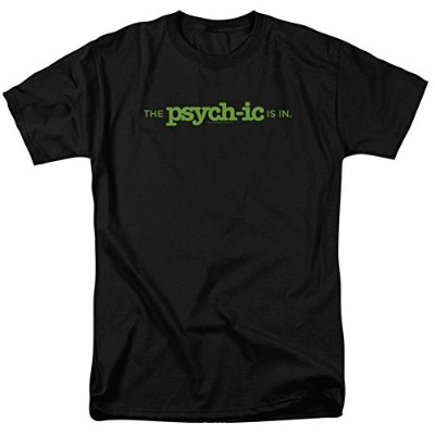Trevco Psych-The Psychic Is In Short Sleeve Adult 18-1 Tee, Black - 3X
