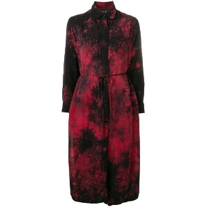 Amiri tie-dye print shirt dress - レッド