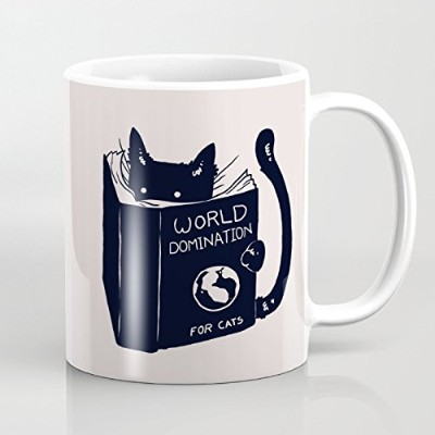 Best Funny Mug – World Domination For Cats 11オンスコーヒーマグ – Perfect for誕生日、メンズ、レディース、Present for Him...