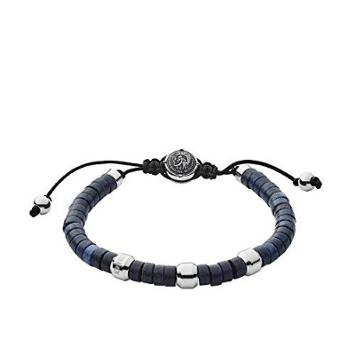男性用ブレスレット(Diesel Men Stainless Steel Strand Bracelet - DX1122040) 並行輸入品