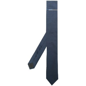 Boss Hugo Boss stripe detail tie - ブルー