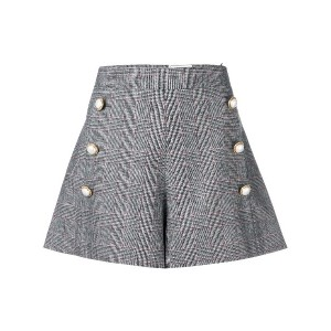 Forte Dei Marmi Couture Glen check flared shorts - グレー