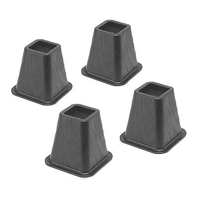 Whitmor 6511-3349-BLK Black Bed Risers 4 Count