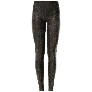 Amir Slama printed leggings - ブラウン