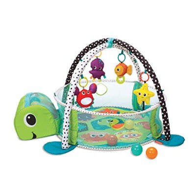 赤ちゃん おもちゃ ジムボールプール 出産祝い Infantino Grow with Me Turtle Ocean Sea Friends Activity Gym and Ball Pit...