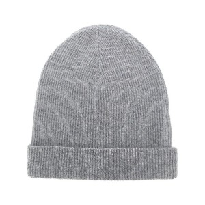 Cashmere In Love cashmere ribbed beanie - グレー