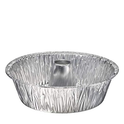 (10) - Disposable Round Cake Baking Pans - Aluminium Foil Bundt Tube Tin Great for Baking Decorative...