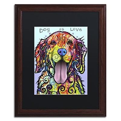 商標Fineアートali2592-w1114bmf Dog Is Love by Dean Russo 16x20 ALI2592-W1620BMF