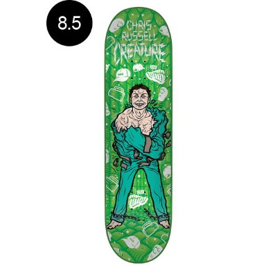 【CREATURE クリーチャー】8.5in x 32.25in RUSSELL PSYCH WARD PRO DECKデッキ クリス・ラッセル スケートボード スケボー ストリート sk8 skateboard【1707】