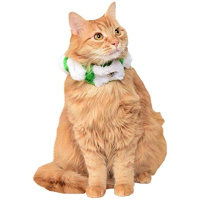 Rubie's Christmas Pet Candy Stripe Scrunchie Collar, Small to Medium, Green/White by Rubie's