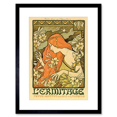 Mucha Lermitage Ilustree Old Master Painting Picture Framed Wall Art Print オールドマスターペインティング画像壁
