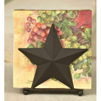 Napkin Caddy - Rustic Country Star Napkin by Colonial Tin Works by Colonial Tin