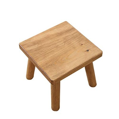 Household Stool Wood Small Stool Coffee Table Stool Small Bench Home Low Stool Living Room Shoes...
