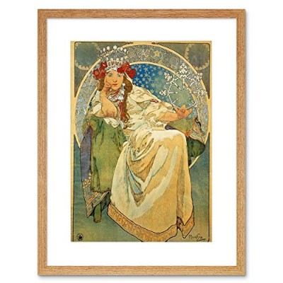 Alphonse Mucha Princess Hyacinth 1911 Old Master Framed Wall Art Print オールドマスター壁