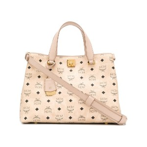 MCM all over logo tote - ニュートラル