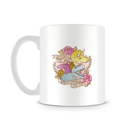 Cool Cute Funnyレトロ恐竜Illustration in a TattooスタイルFeminist Mug