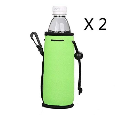E - Living 500ML (16.9 OZ) Collapsible Neoprene Water Bottle Drawstring Cooler / Coolie / Cover /...