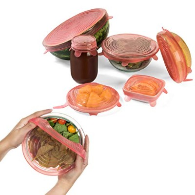 Katchy Kitchen Silicone Stretch Lids - 6-pack - Reusable, Keeps Food Fresh - Insta Lid