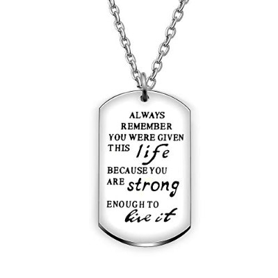 agr8tインスピレーションペンダントネックレス卒業ギフトBest Friendジュエリー–You Are GivenこのLife Because You Are Strong Enough