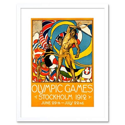 Ad Sport Olympic Games Stockholm 1912 Picture Framed Wall Art Print スポーツオリンピックゲーム画像壁