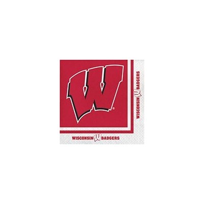 クラブパックの240 NCAA Wisconsin Badgers 2-ply Tailgating Party Lunch Napkins