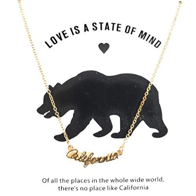 J&W COLLECTION California Love is A State of Mind ネックレスペンダント ゴールド