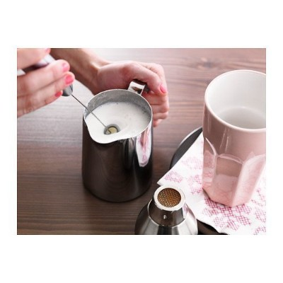 Produkt Milk Frother and Mattlig Stainless Steel 17oz Milk Frothing Jug Set by Ikea [並行輸入品]