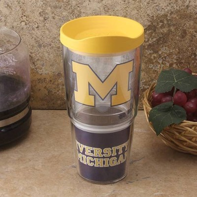 NCAA TervisタンブラーMichigan Wolverines 24oz。ラップTravel Tumbler with Lid