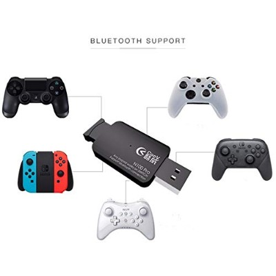 Switch/PS4/Xbox One/Android端末/PC(Windows 10/Linux) コントローラー変換アダプターSwitch Pro/JoyCon/PS4/XBOX ONE S...