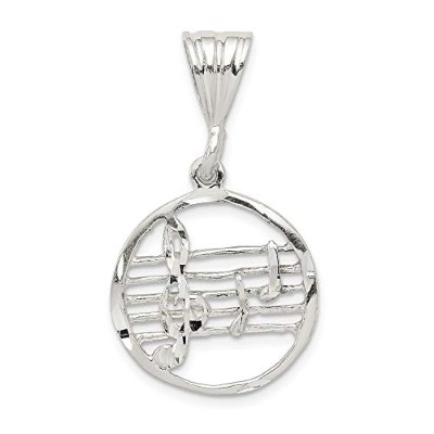 Beautiful Sterling silver 925 sterling Sterling Silver Music Staff Charm comes with a Free Jewelry...