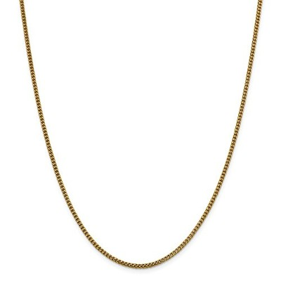 Beautiful Yellow gold 14K Yellow-gold Leslie's 14K 2 mm Franco Chain comes with a Free Jewelry Gift