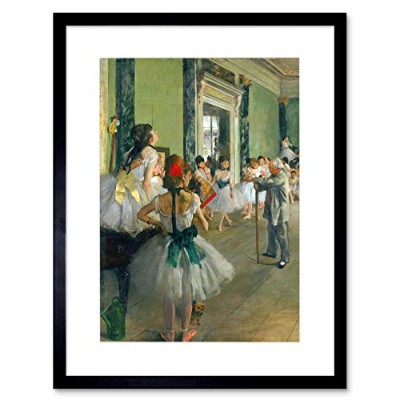 Edgar Degas Ballet Class Old Master Picture Framed Wall Art Print 玉オールドマスター画像壁