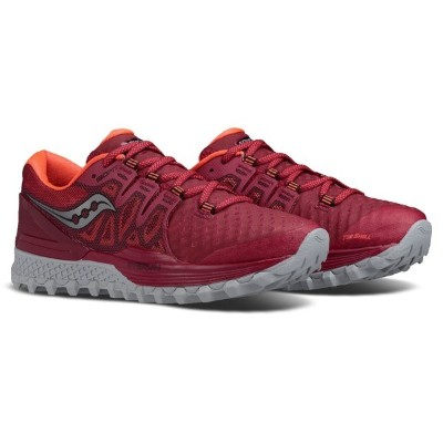 サッカニー レディース スニーカー シューズ Xodus ISO 2 Trail-Running Shoes - Women's Berry/Coral