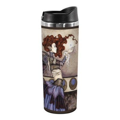 Tree-Free Greetings TT01576 Amy Brown Fantasy 18-8 Double Wall Stainless Artful Tumbler, 410ml,...