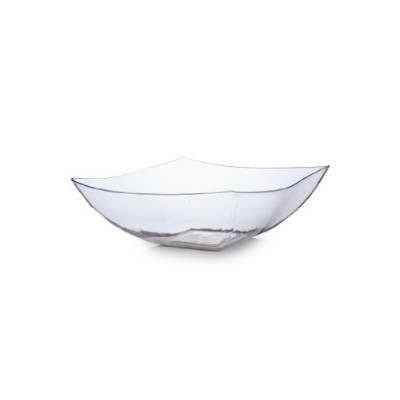 Fineline設定Wavetrendsクリアchina-like Square 32オンスServing Bowl 50ピース