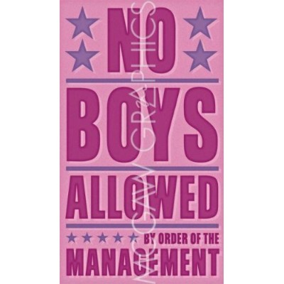 """No Boys Allowed byジョン・Wゴールデン18"""" x11""""アートプリントポスター"""